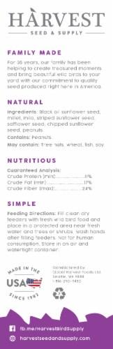 Harvest Seed & Supply Birder's Medley Wild Bird Food Perspective: back