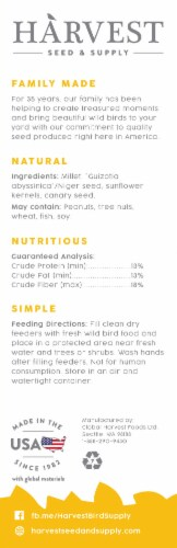 Harvest Seed & Supply Wild Finch Wild Bird Food Perspective: back