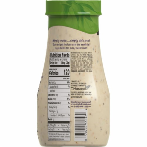 Marzetti® Simply Dressed Caesar Dressing Perspective: back