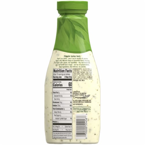 Marzetti Simply 60 Buttermilk Ranch Dressing Perspective: back