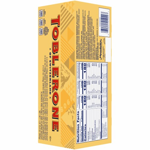 Toblerone Swiss Chocolates with Honey & Almond Nougat Variety Gift Box Perspective: back