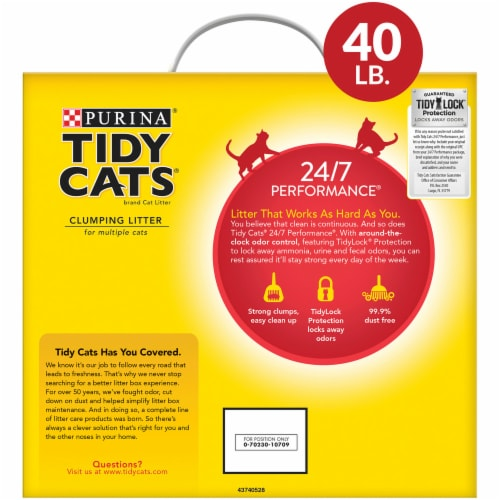Tidy Cats 24/7 Performance Clumping Multi-Cat Litter Perspective: back
