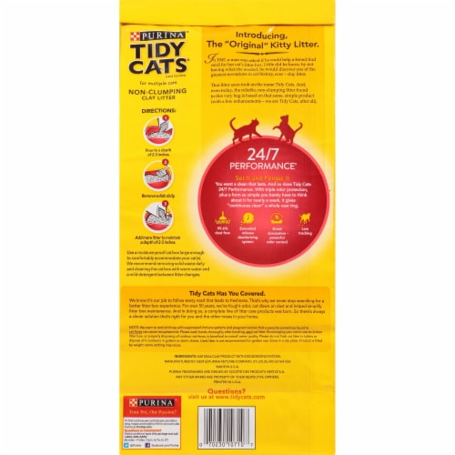 Tidy Cats® 24/7 Performance Multi Cat Non-Clumping Clay Litter Perspective: back