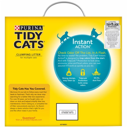 Tidy Cats® Instant Action Multi-Cat Clumping Litter Perspective: back