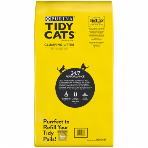 Purina® Tidy Cats® Multiple Cat Clumping Litter Perspective: back