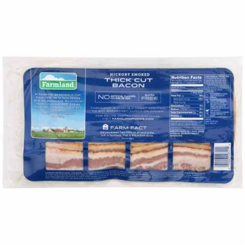 Farmland Naturally Hickory Smoked Thick Cut Sliced Bacon Perspective: back