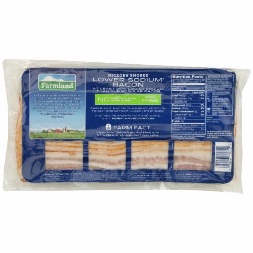 Farmland Lower Sodium Hickory Smoked Bacon Perspective: back