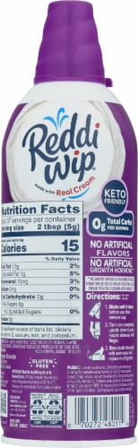 Reddi Wip® Zero Sugar Whipped Topping Perspective: back
