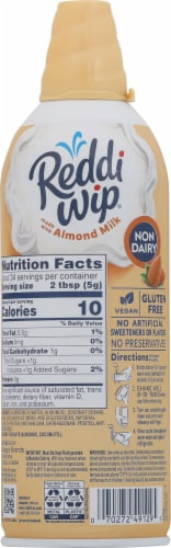 Reddi Wip Non-Dairy Almond Milk Whipped Topping Perspective: back