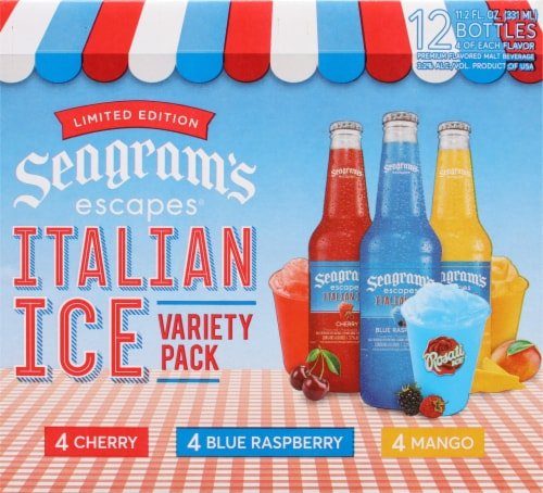 Seagram's Escapes Italian Ice Flavored Malt Beverage Variety Pack Perspective: back