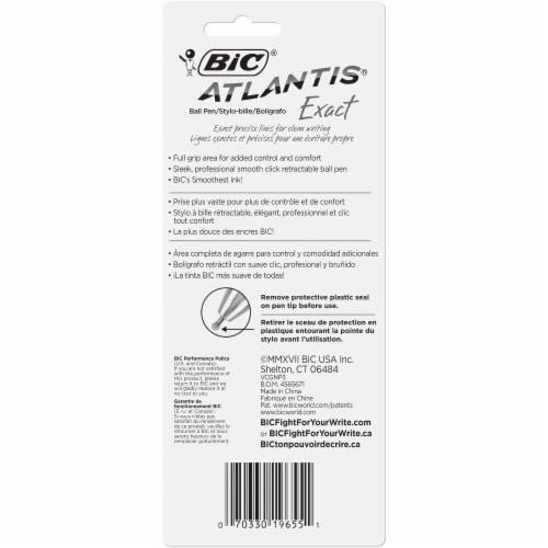 BIC Atlantis Exact Fine Point Pens - Black Perspective: back