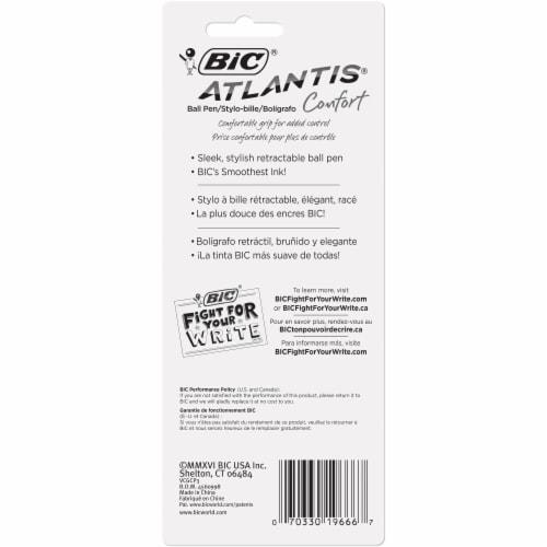 BIC Atlantis Comfort Retractable Medium Ball Point Pens Perspective: back