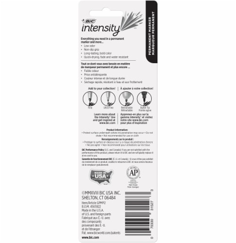 BIC Intensity Fine Point Permanent Marker - Black Perspective: back