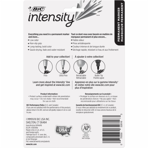 BIC Intensity Fine-Point Permanent Markers - Assorted Perspective: back
