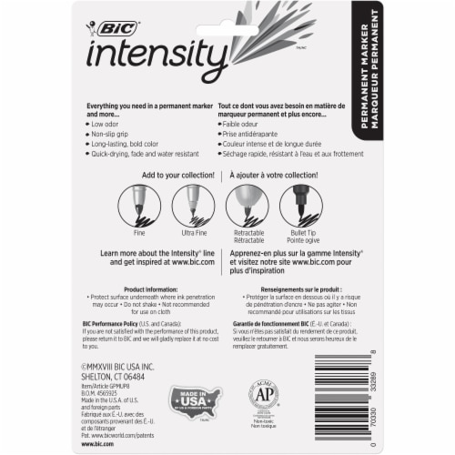 BIC Intensity Ultra-Fine-Point Permanent Markers - Assorted Perspective: back