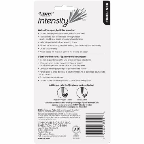 BIC Intensity Fineliner Pens - Assorted Perspective: back