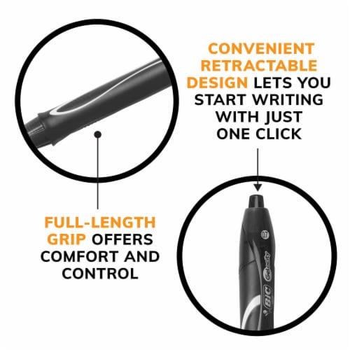 BIC Gel-ocity Quick Dry Gel Pens - Black Perspective: back
