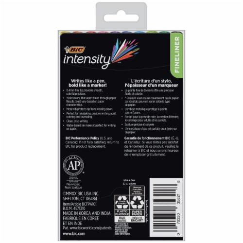 BIC Intensity Fineliner Color Collection Fine Point Marker Pens Perspective: back