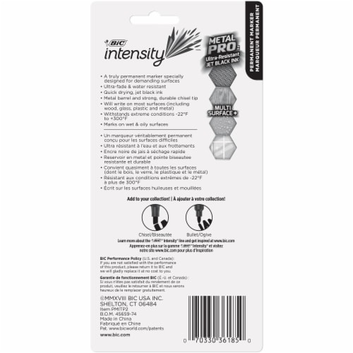 BIC Intensity Metal Pro Permenant Marker Pack - Black Perspective: back