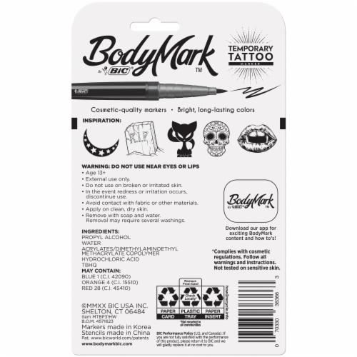 BIC BodyMark Halloween Temporary Tattoo Markers & Stencils Perspective: back