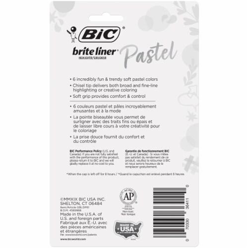 BIC Intensity Pastel Brite Liner Highlighters Perspective: back