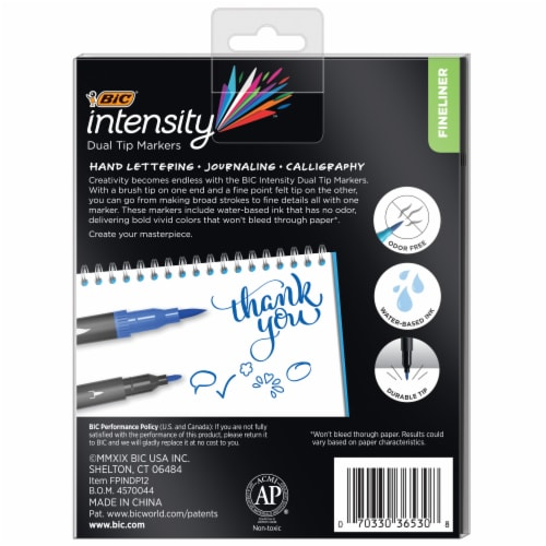 BIC Intensity Dual Tip Markers - Assorted Perspective: back