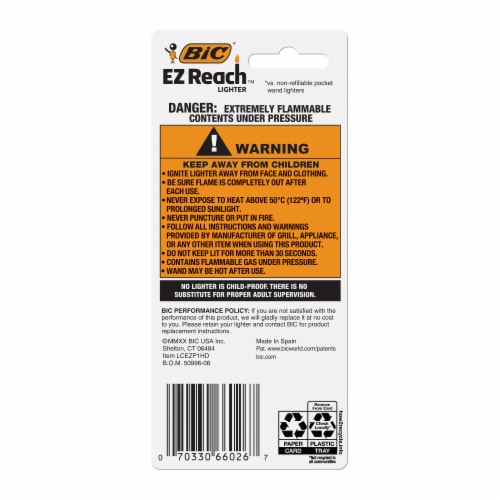 BIC EZ Reach Lighter Wand - Assorted Perspective: back
