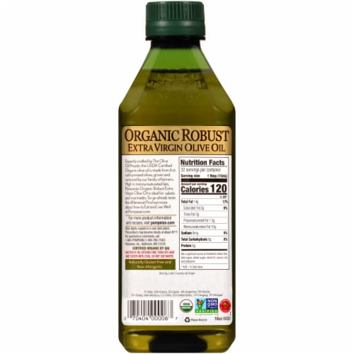 Pompeian® Organic Robust Extra Virgin Olive Oil Perspective: back