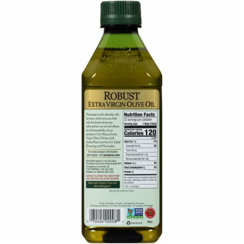 Pompeian Extra Virgin Olive Oil Robust Perspective: back
