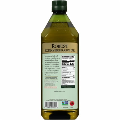 Pompeian Robust Extra Virgin Olive Oil Perspective: back