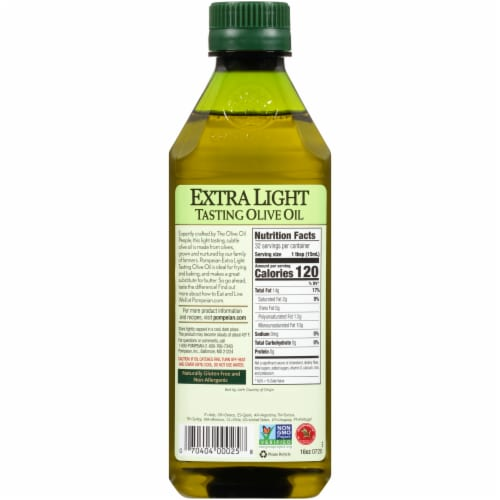 Pompeian® Extra Light Olive Oil Perspective: back