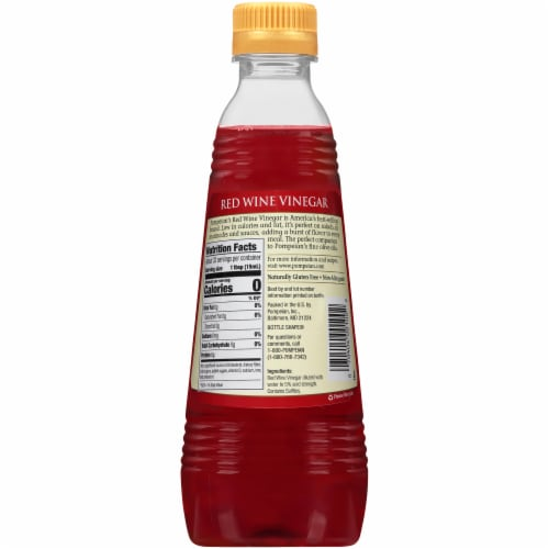 Pompeian Red Wine Vinegar Perspective: back