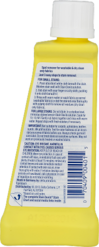 Carbona Stain Devils Fat & Cooking Oil Specialty Stain Remover Perspective: back