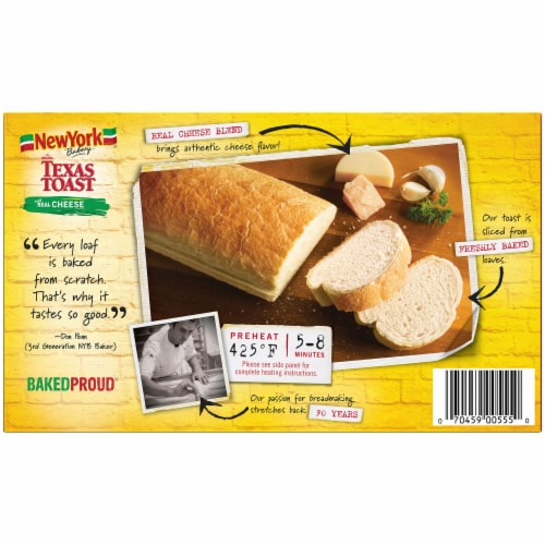 New York Bakery Real Cheese Texas Toast 8 Count Perspective: back