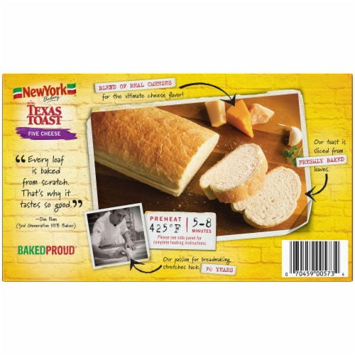 New York Bakery Five Cheese Texas Toast Perspective: back