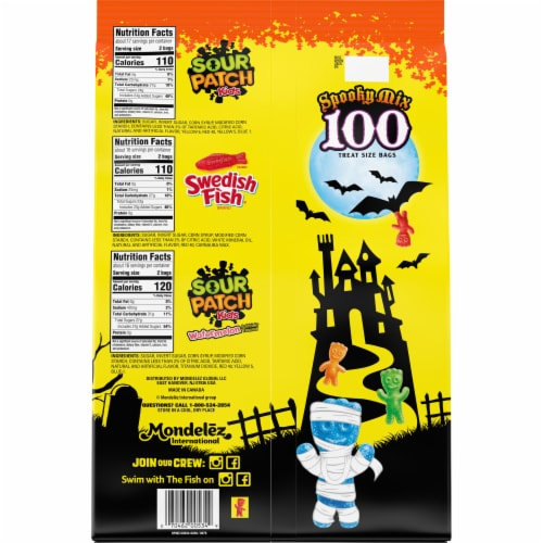 Sour Patch & Swedish Fish Treat Bags Variety Pack Perspective: back