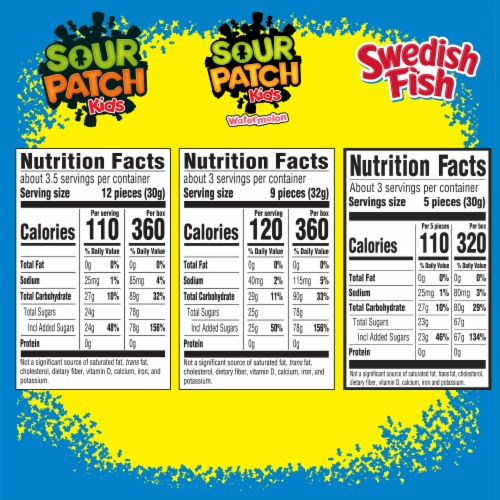 Sour Patch Kids Candy Variety Pack Perspective: back
