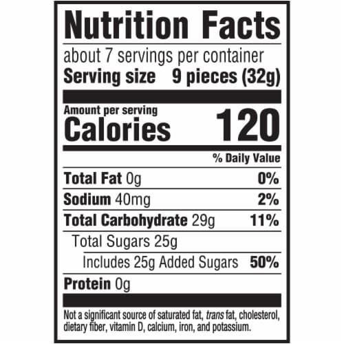 Sour Patch Kids Watermelon Flavored Soft & Chewy Candy Perspective: back