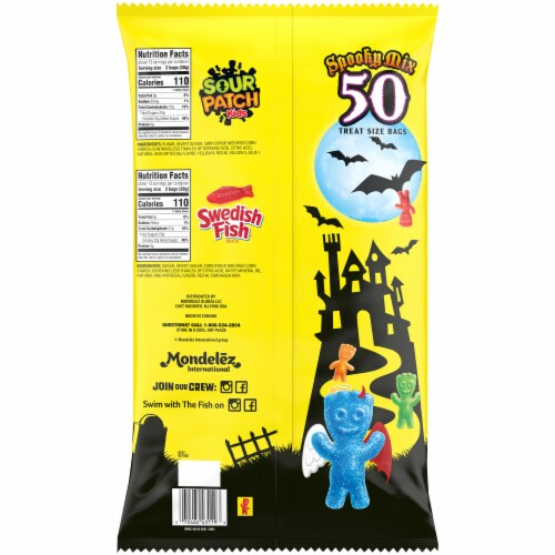 Sour Patch Kids & Swedish Fish Spooky Mix Treat Size Bags Perspective: back