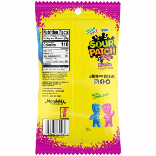 Sour Patch Kids Berries Candy Perspective: back