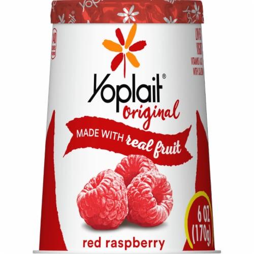 Yoplait Original Red Raspberry Low Fat Yogurt Perspective: back