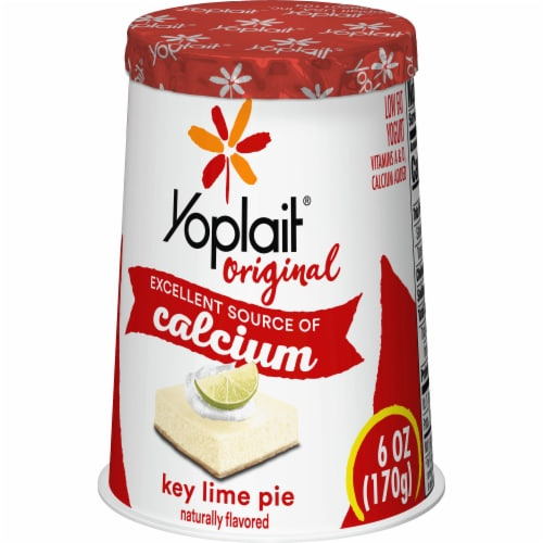 Yoplait Original Key Lime Pie Low Fat Yogurt Perspective: back