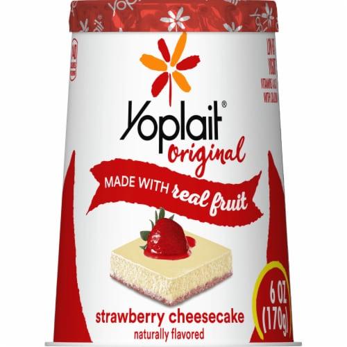 Yoplait Original Strawberry Cheesecake Low Fat Yogurt Perspective: back