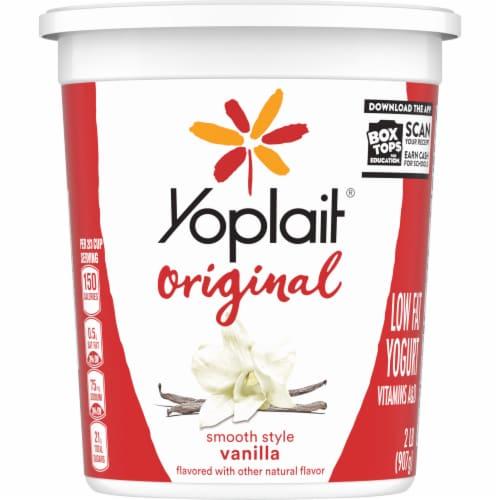 Yoplait Original Vanilla Low Fat Yogurt Perspective: back