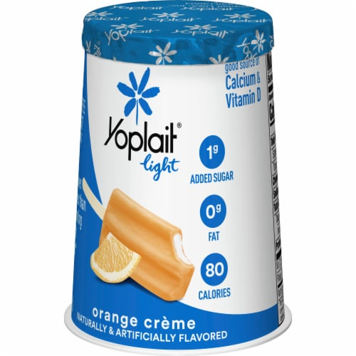 Yoplait Light Orange Creme Fat Free Yogurt Perspective: back