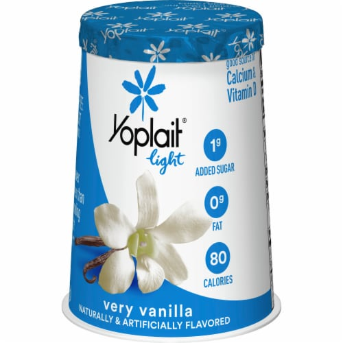 Yoplait Light Very Vanilla Fat Free Yogurt Perspective: back