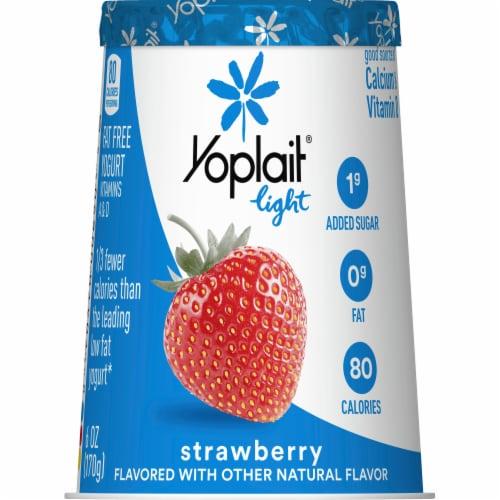 Yoplait Light Strawberry Fat Free Yogurt Perspective: back