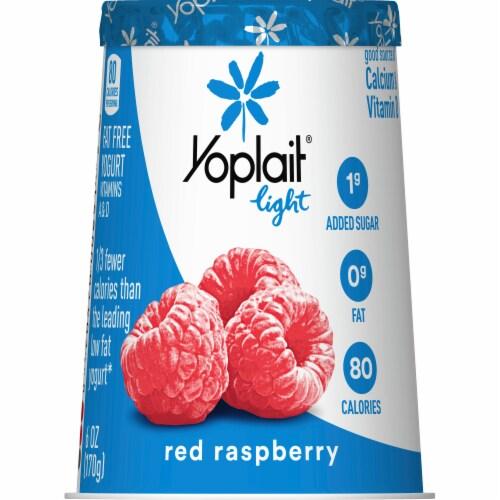 Yoplait Light Red Raspberry Fat Free Yogurt Perspective: back