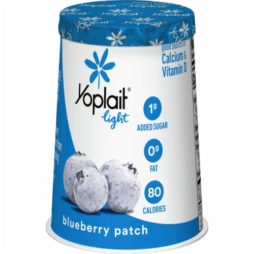 Yoplait Light Blueberry Patch Fat Free Yogurt Perspective: back