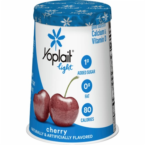 Yoplait Light Cherry Fat Free Yogurt Perspective: back
